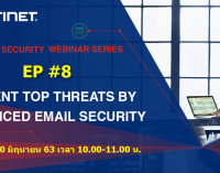 """Fortinet Security Webinar Series EP #8 """"Prevent Top Threats by Advanced Email Security"""""""